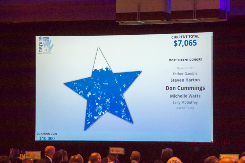 The jumbo star filled up quickly as guests donated toward the $10,000 fundraising goal.